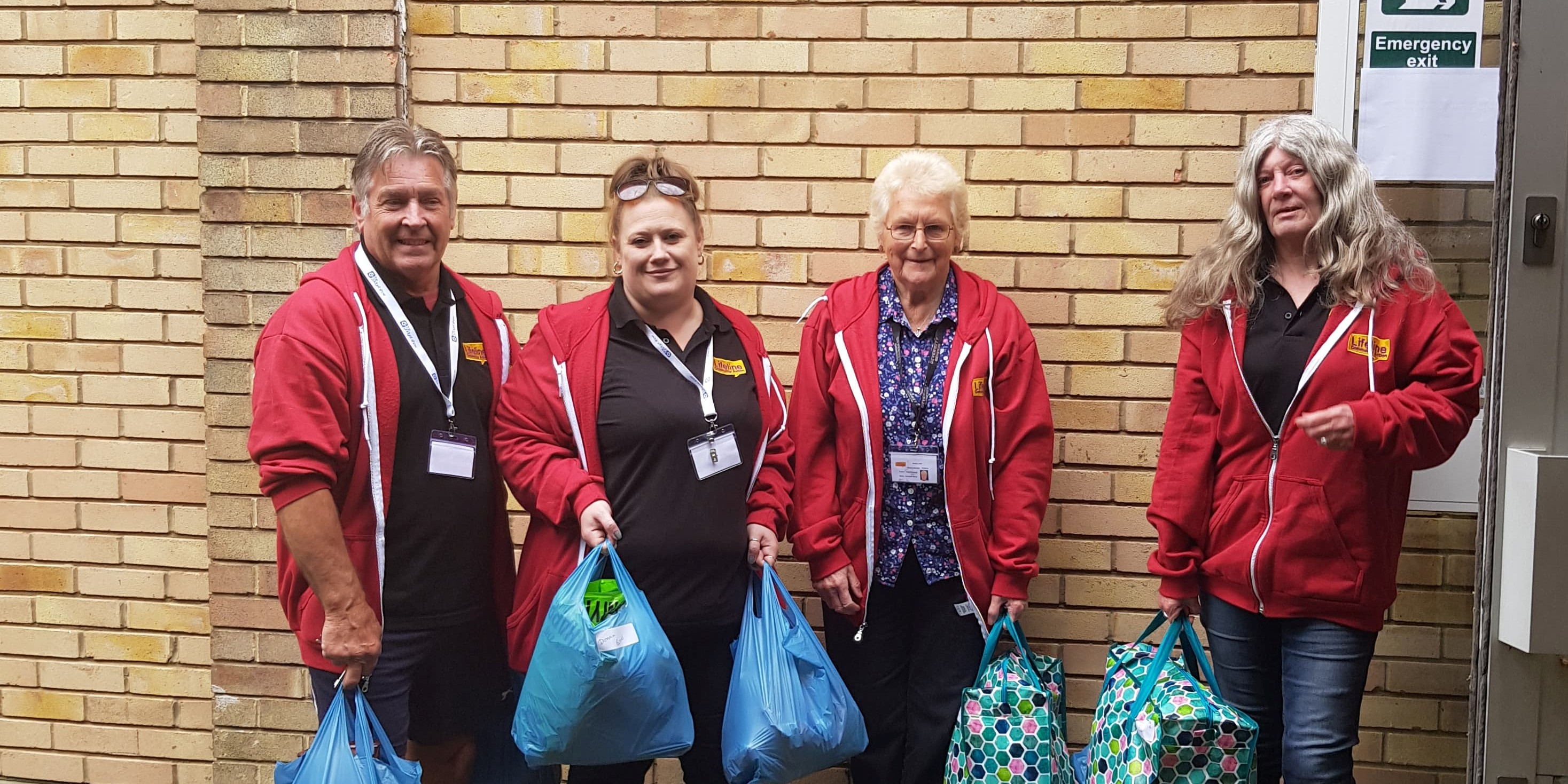 Staff and volunteers, Durham charity, Lifeline Community Action