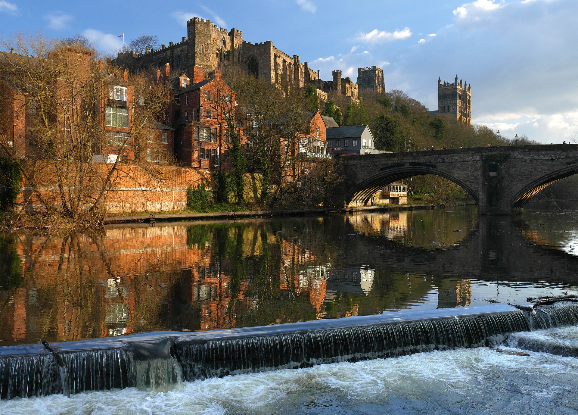Durham city in the sunshine