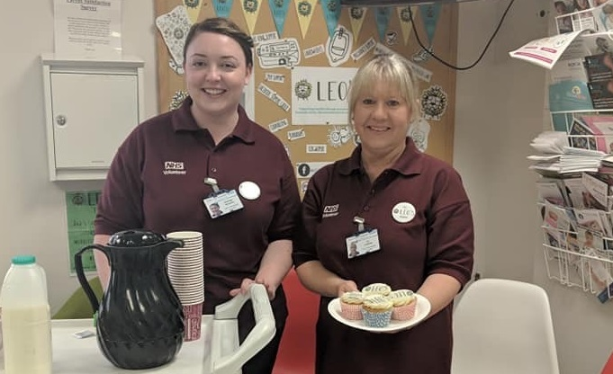NHS staff hold a coffee morning for Leo's