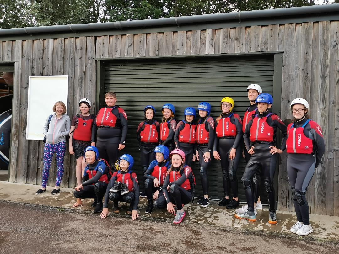 Young people get ready to take part in outdoor activities thanks to Brandon Carrside Youth Project