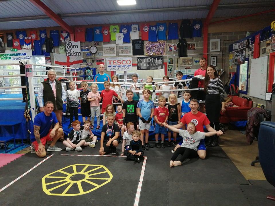 High Sheriff Robert Harle visits 'rookie' session at Brandon Boxing Club